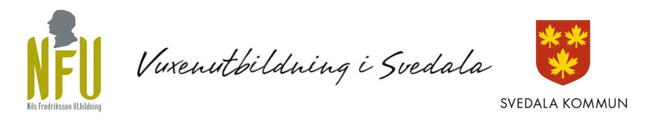 logga, text vuxenutbildning Svedala